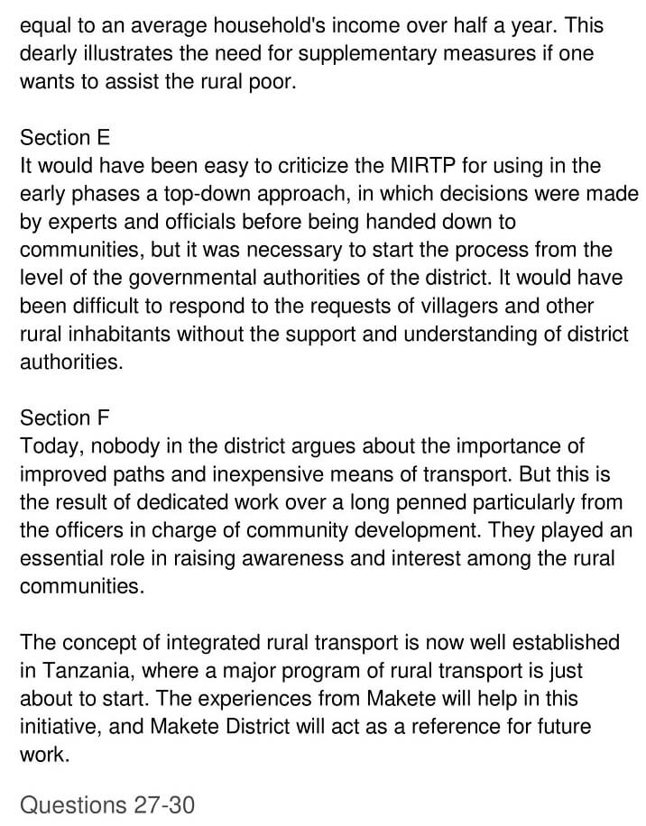 'Makete Integrated Rural Transport Project' Answers_0005