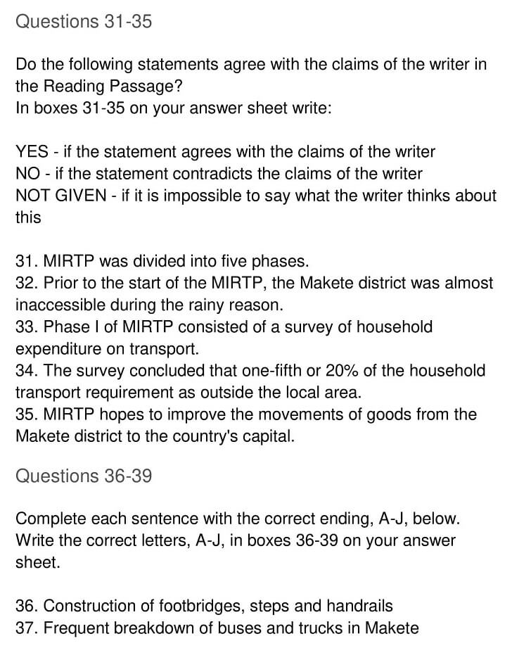 'Makete Integrated Rural Transport Project' Answers_0007