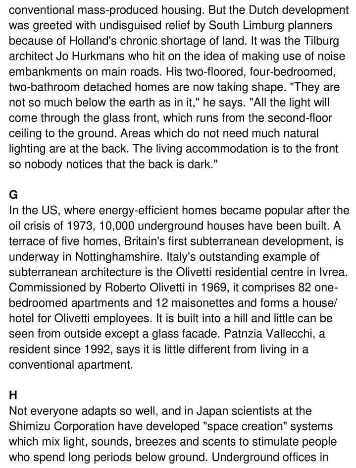 'Moles Happy as Homes go Underground' Answers_0003