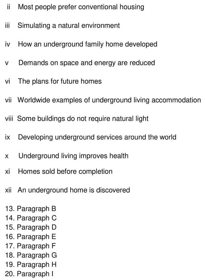 'Moles Happy as Homes go Underground' Answers_0005
