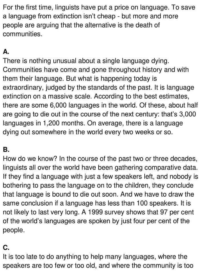 'Saving Language' Answers_0001