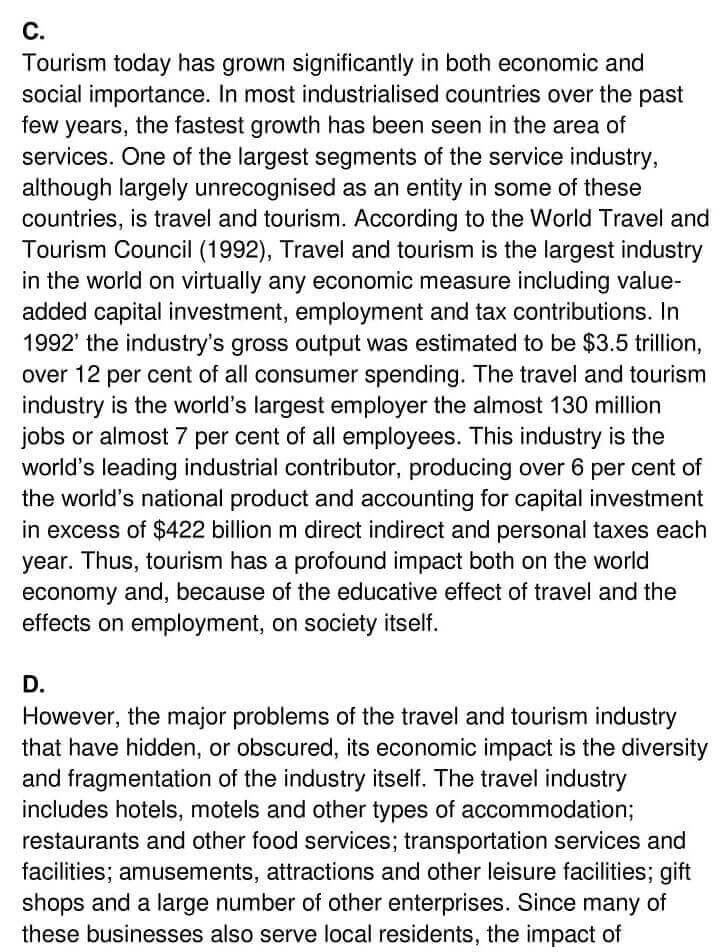 'The Context Meaning and Scope of Tourism' Answers_0002