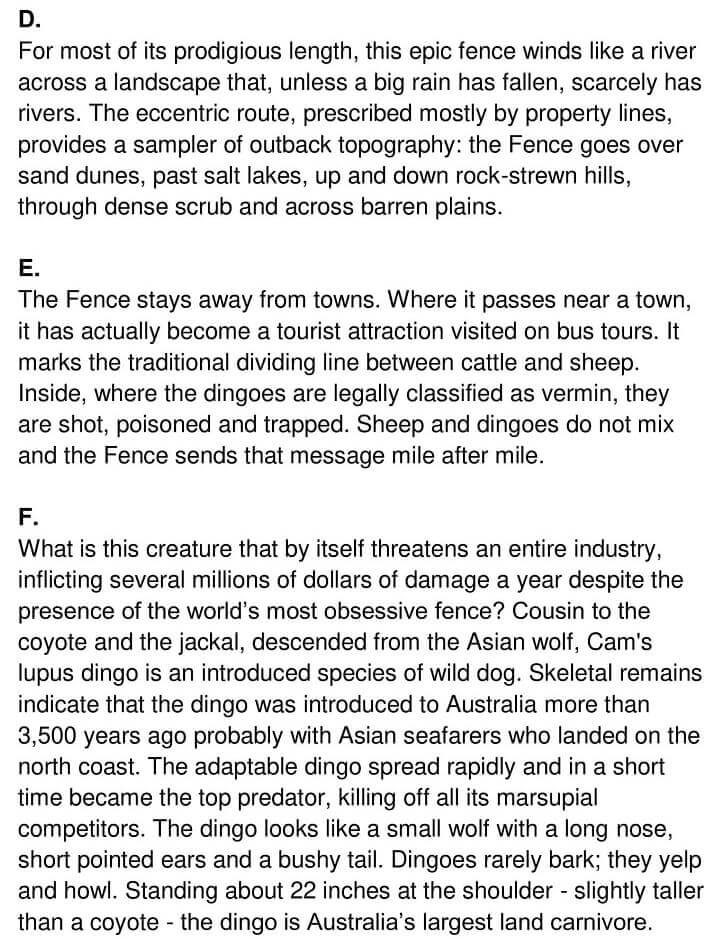 'The Great Australian Fence' Answers_0002