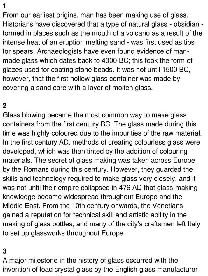 'The History of Glass' Answers_0001