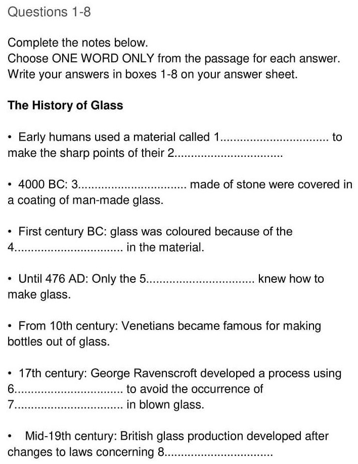 'The History of Glass' Answers_0004