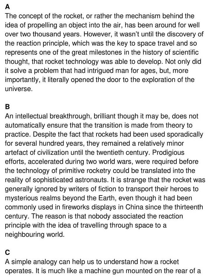 'The Rocket from East to West' Answers_0001