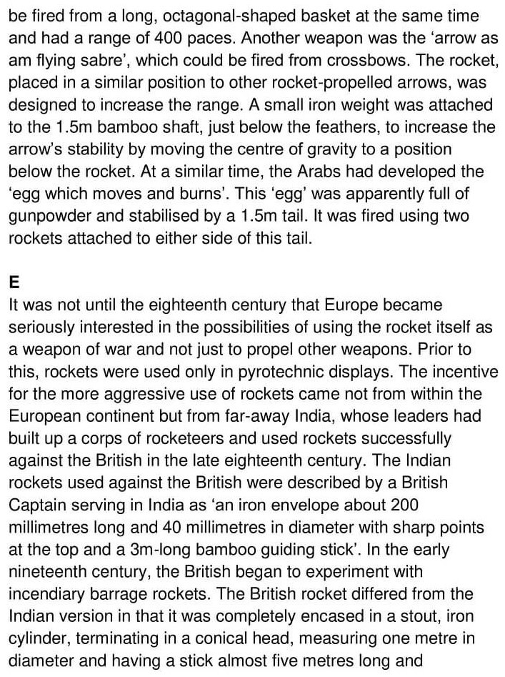 'The Rocket from East to West' Answers_0003