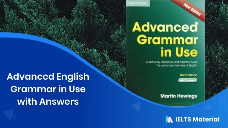 Advanced English Grammar in Use with Answers