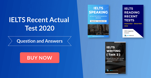 ielts recent actual test 2020