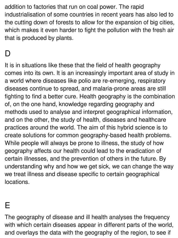 health geography - 2