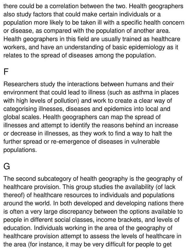 health geography - 3