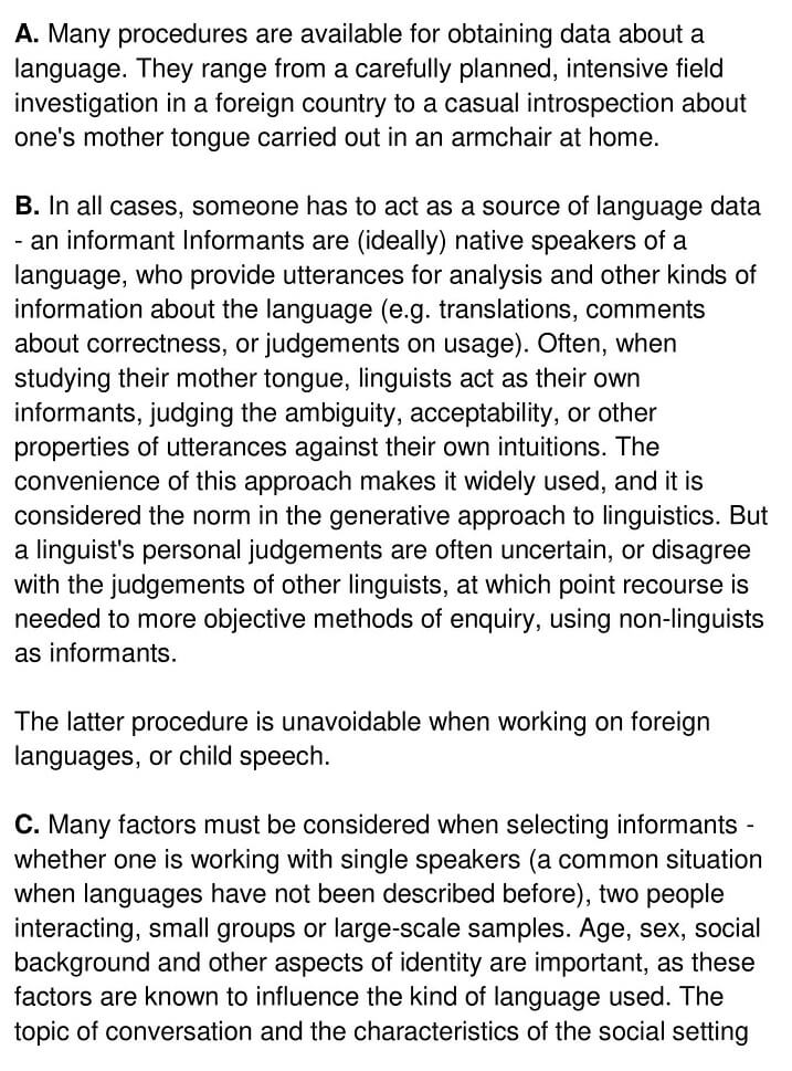 Obtaining Linguistic Data - 0001