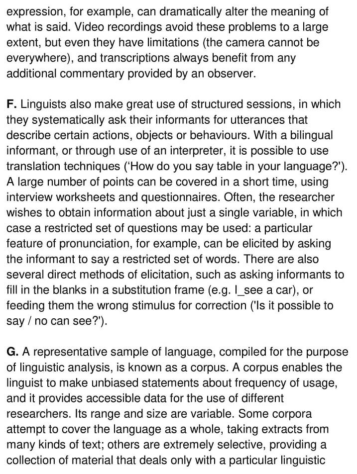 Obtaining Linguistic Data - 0003