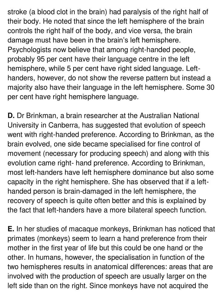 Right and left handedness in humans - 0002