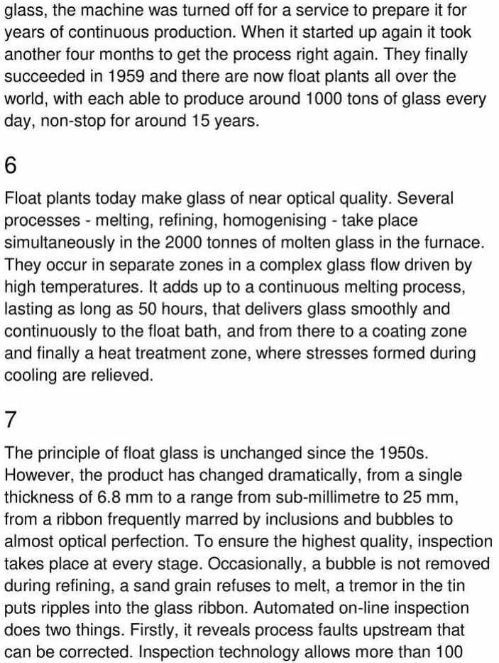 sheet glass - 3