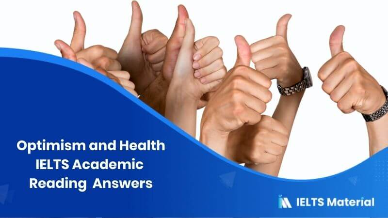 IELTS Academic Reading 'Optimism and Health' Answers