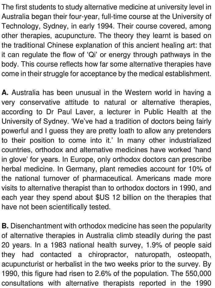Alternative Medicine in Australia - 0001