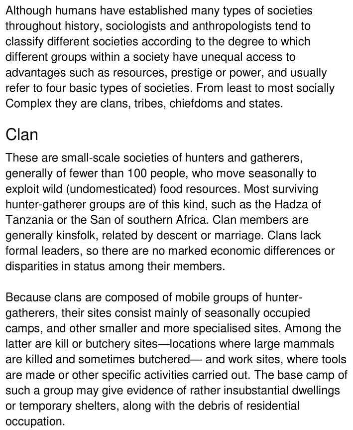classifying societies 1