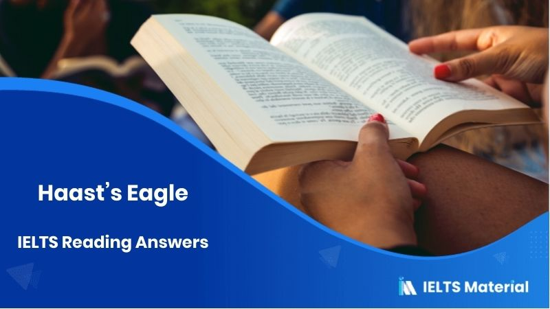 Haast's Eagle IELTS Reading Answers