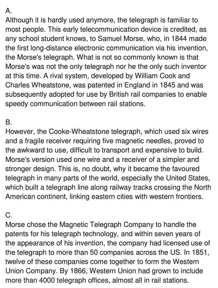 'Early Telecommunication Devices' Answers_0001