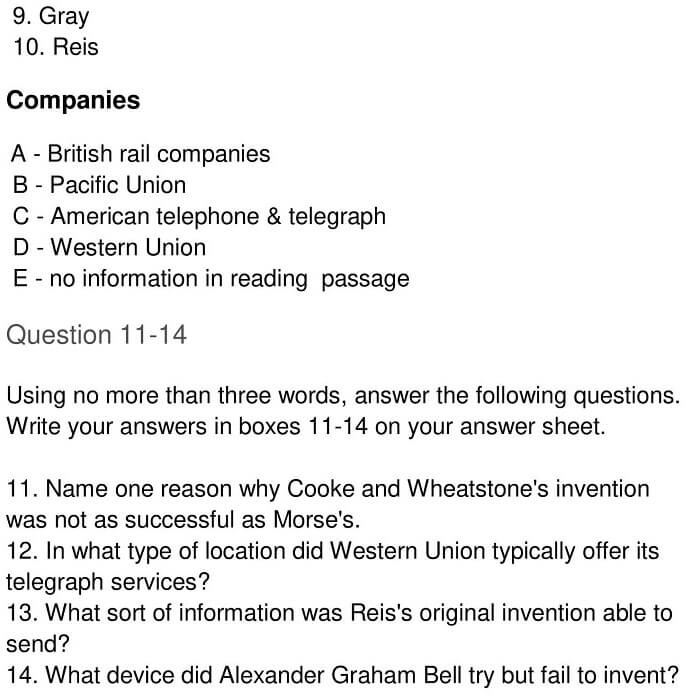 'Early Telecommunication Devices' Answers_0006