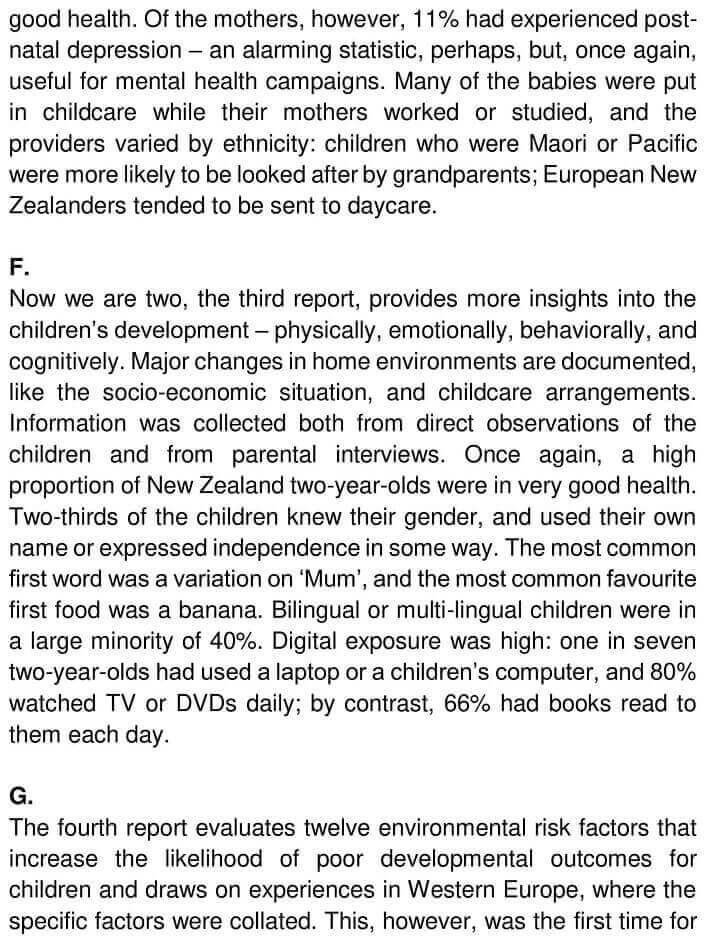 IELTS Academic Reading 'Growing up in New Zealand' Answers - 0003