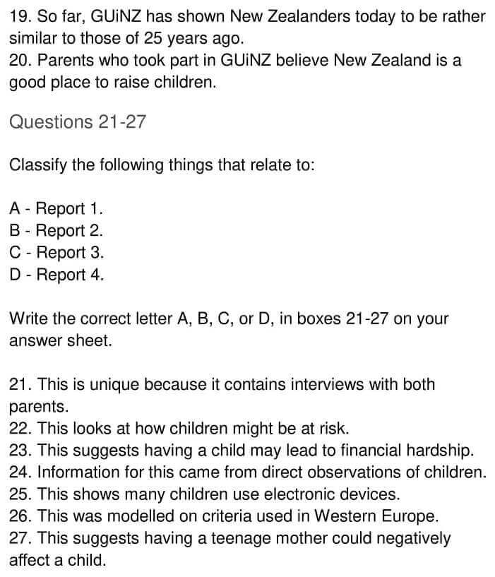 IELTS Academic Reading 'Growing up in New Zealand' Answers - 0005