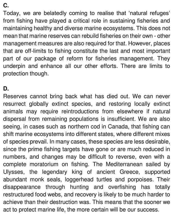 IELTS Academic Reading 'The Future of fish' Answers - 0002