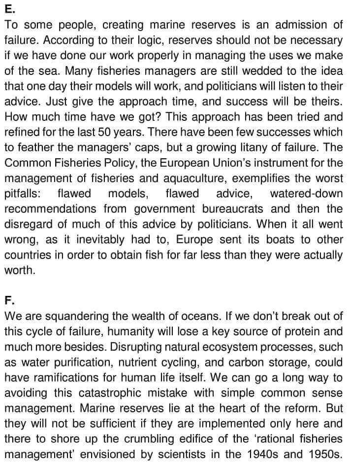 IELTS Academic Reading 'The Future of fish' Answers - 0003