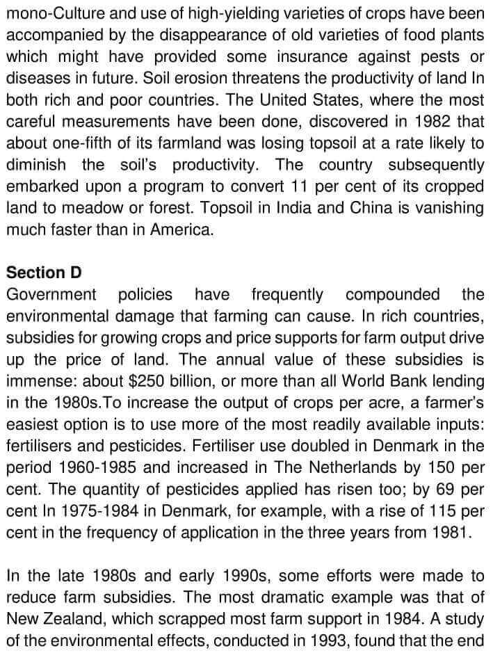 IELTS Academic Reading 'The Role of Government in Environmental Management' Answers - 0002