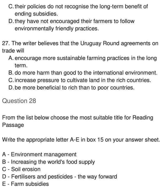 IELTS Academic Reading 'The Role of Government in Environmental Management' Answers - 0008