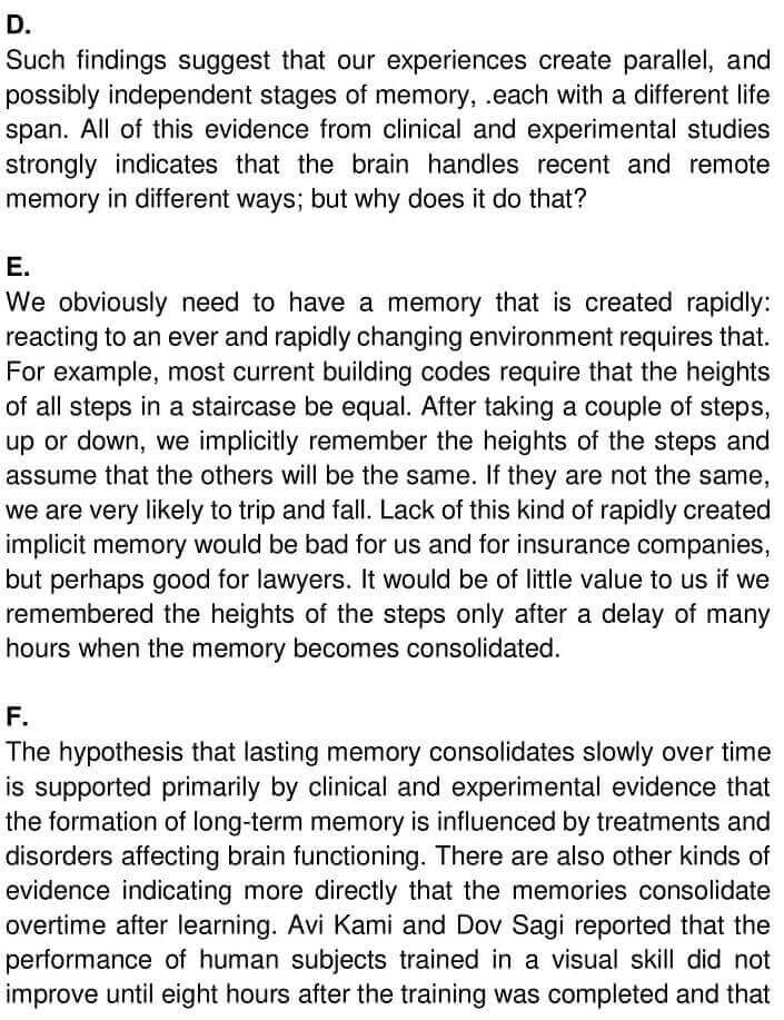 IELTS Academic Reading 'The creation of lasting memories' Answers - 0002