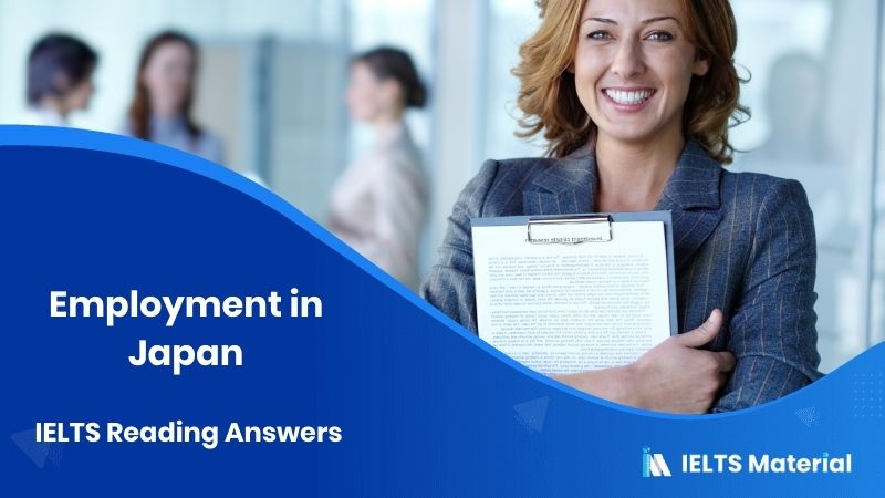 Employment in Japan – IELTS Reading Answers