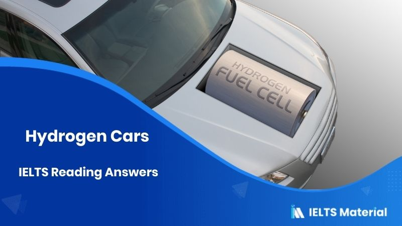 Hydrogen Cars IELTS Reading Answers