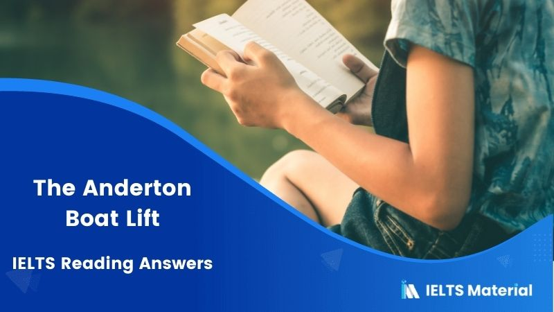 IELTS Academic Reading 'The Anderton Boat Lift' Answers