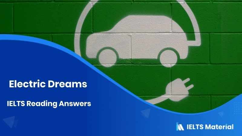 Electric Dreams IELTS Reading Answers