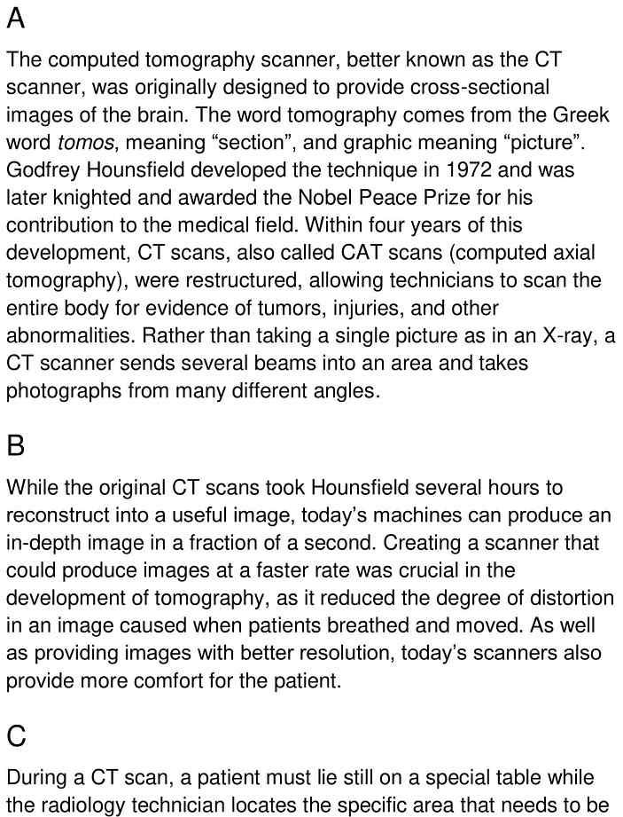 CT scanner 1