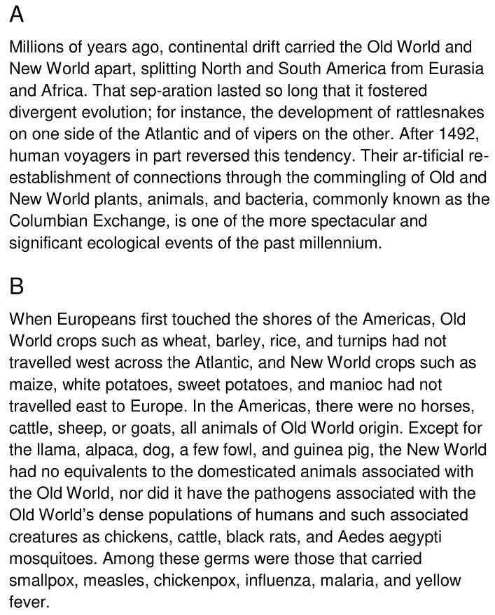 columbian exchange - 1