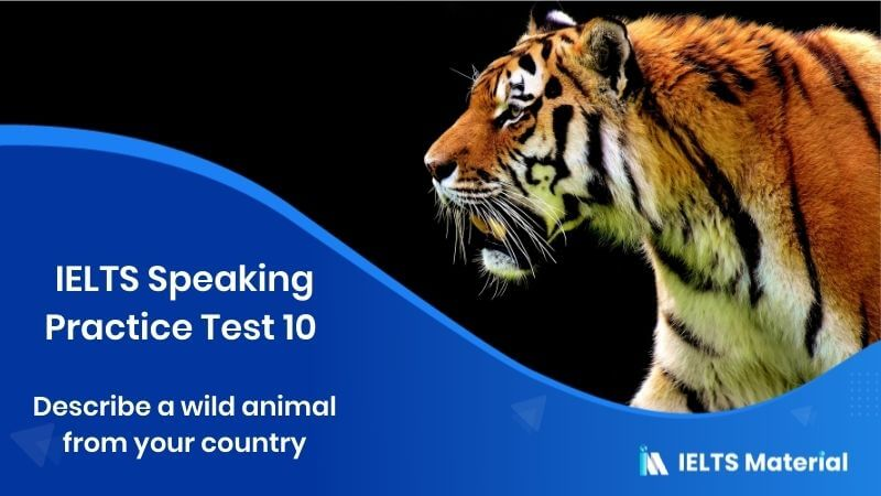 IELTS Speaking Practice Test 10 – Topic : Describe a wild animal from your country