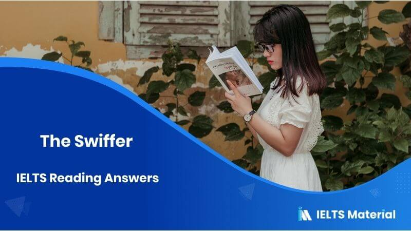 The Swiffer - IELTS Reading Answers