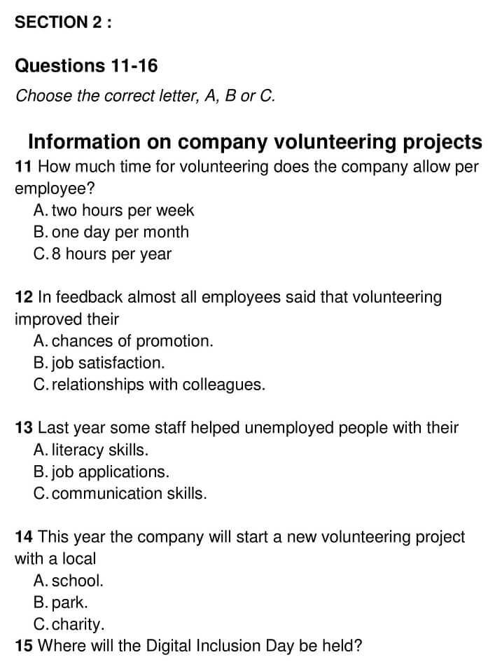 Information on company volunteering 0001