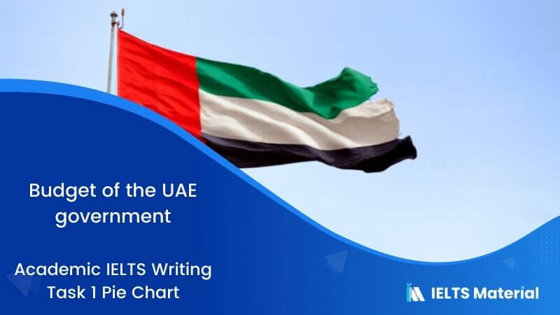 IELTS Academic Writing Task 1 Topic 36:  Information on UAE government spending in 2000 – Pie chart
