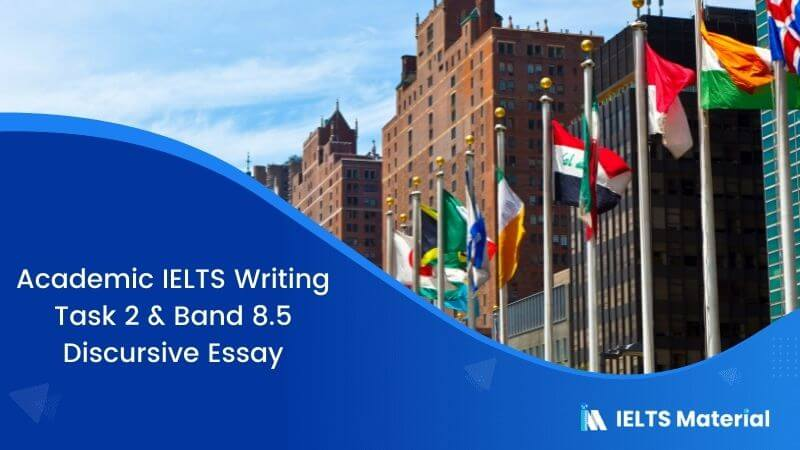 IELTS Writing 2 Discursive Essay Topic: Many developing countries require aid from international organisations to develop