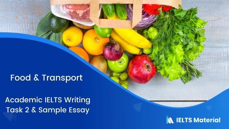 IELTS Writing 2 Topic: Food