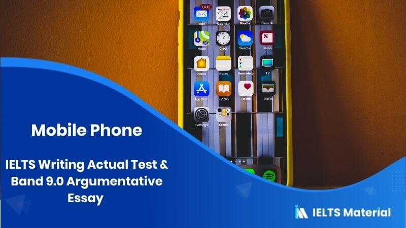 The use of mobile phone is as antisocial as smoking – IELTS Writing Task 2 Argumentative Essay
