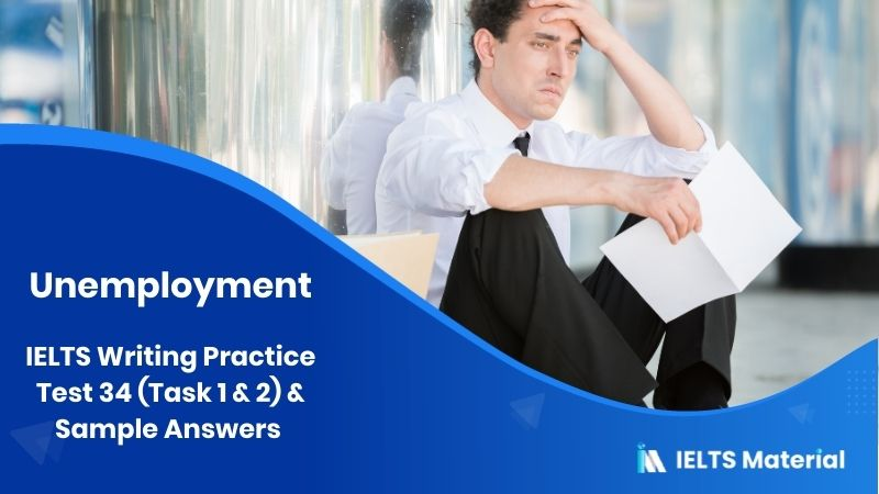 IELTS Writing Practice Test 34 (Task 1 & 2) & Sample Answers - topic : unemployment