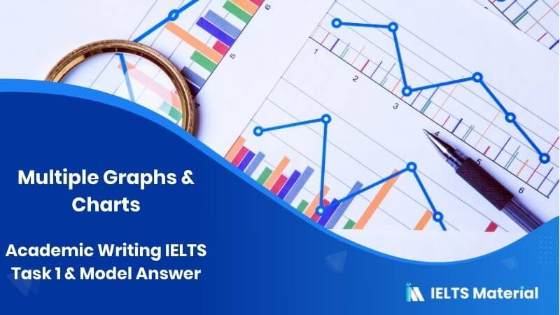 Academic Writing IELTS Task 1 - Multiple Graphs & charts Model Answer