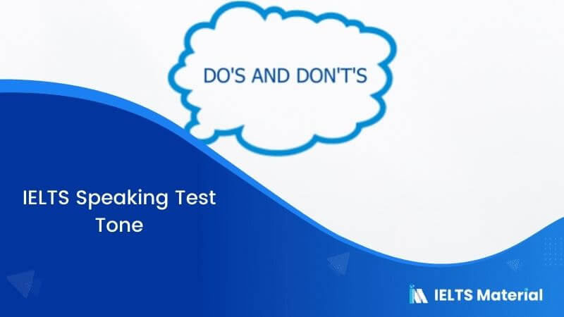 IELTS Speaking Test –Tone