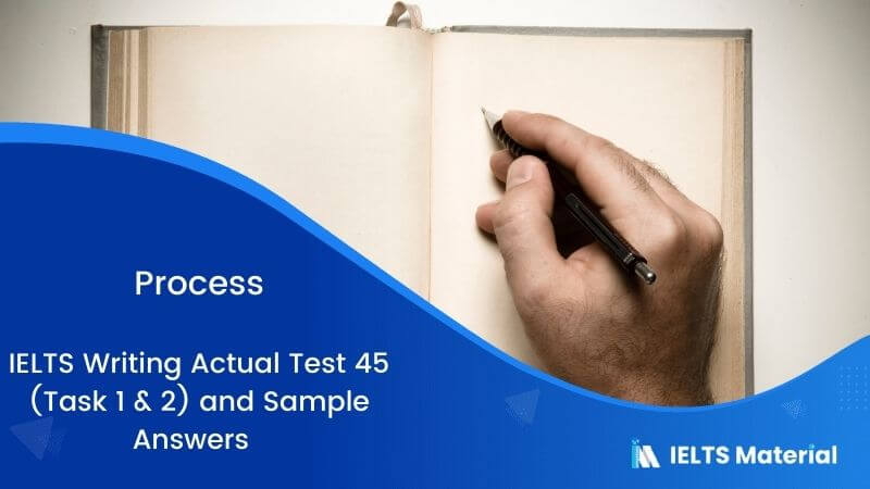 IELTS Writing Actual Test 45 (Task 1 & 2) & Sample Answers – topic : Process