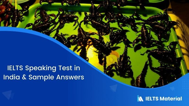 IELTS Speaking Test in India with Sample Answers – January 2018